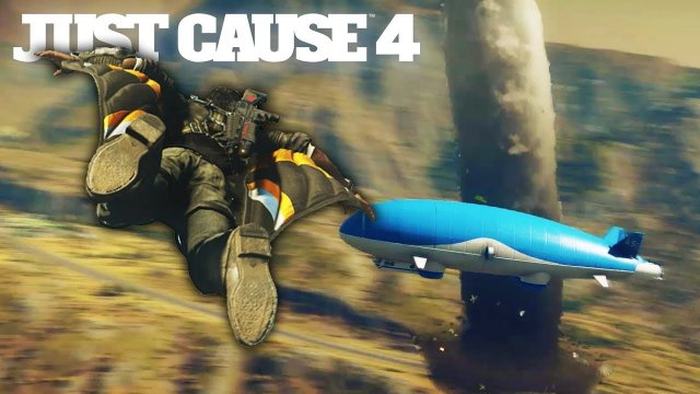 Just Cause 4 - Flying an Airship Into a Tornado (Just Cause 4 Free Roam Gameplay)