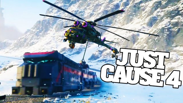 Derailing Trains With Sky Crane Helicopters Is Not Easy in Just Cause 4