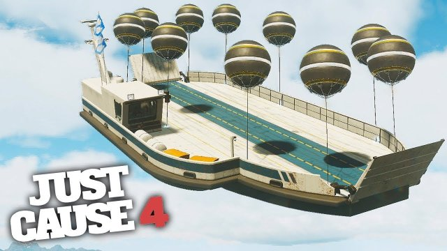 BIGGEST FLYING SHIP CHALLENGE! - Just Cause 4 Challenges!