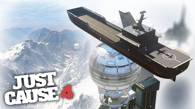 SURFING THE BIGGEST SHIP IN THE GAME! - Just Cause 4 Challenges!