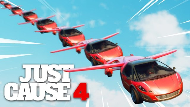 Just Cause 4 - LONGEST FLYING CAR AIR TRAIN!